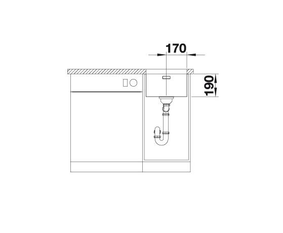 Blanco Andano 340-U 522955 Spoelbak Rvs Onderbouw
