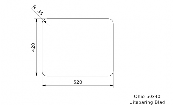 Reginox R25956 Ohio 50 X 40 Rvs Spoelbak Arctic White Onderbouw Of Vlakbouw