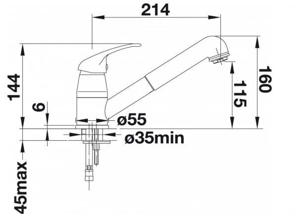 Blanco Daras-S 517731 Keukenkraan Met Uittrekbare Handdouche Chroom