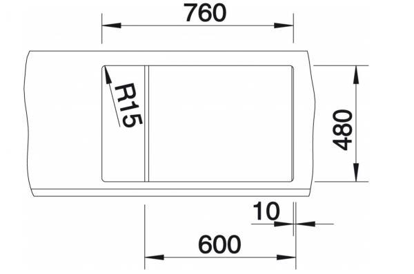 Blanco Metra 6 S Compact 520576 Parelgrijs Spoelbak Silgranit Inclusief Draaiknopbediening Omkeerbaar Onderbouw Of Opbouw