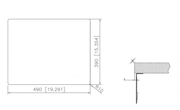 Caressi Special Capp50Q10 Rvs Spoelbak Met Vierkante Korfplug Onderbouw-Vlakbouw-Opbouw