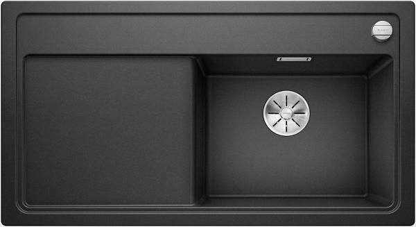 Blanco Zenar 5-S 523872 Antraciet Spoelbak Silgranit Inclusief Draaiknopbediening Inclusief Snijplank Onderbouw Of Opbouw