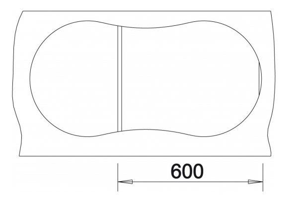 Blanco Cron 6 S 524089 Aluminium Metallic Spoelbak Silgranit Inclusief Draaiknopbediening Onderbouw Of Opbouw