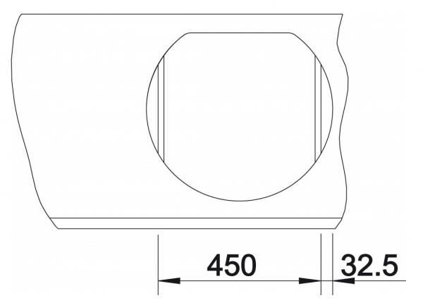 Blanco Rondoval 45 515660 Wit Spoelbak Silgranit Inclusief Draaiknopbediening Opbouw