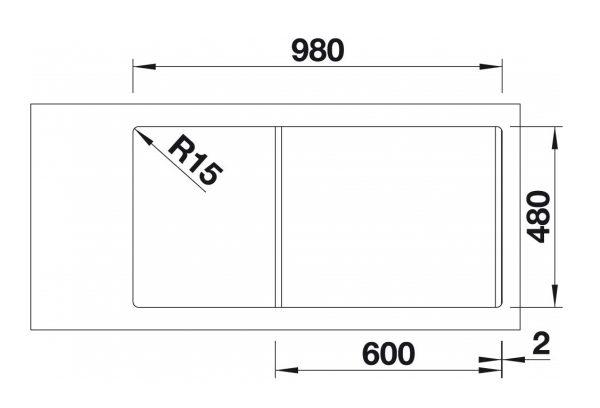 Blanco Sona 6 S 519684 Jasmijn Spoelbak Silgranit Onderbouw Of Opbouw