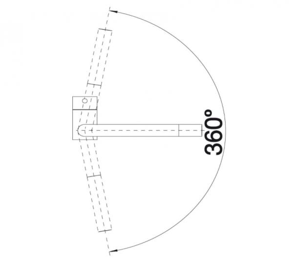 Blanco Linus 514020 Eenhendel Keukenkraan Voor Lage Druk Chroom