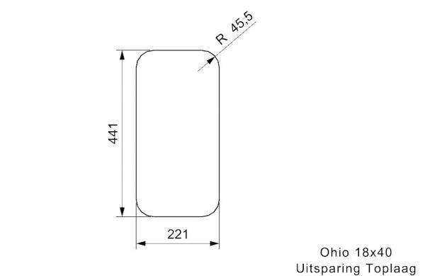 Reginox R31742 Ohio 18 X 40 Rvs Spoelbak Atomic Grey Onderbouw Of Vlakbouw