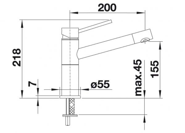 Blanco Alta-F Compact 518412 Eenhendel Keukenkraan Voor Raammontage Chroom