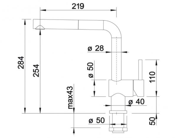 Blanco Linus-S-F 514276 Eenhendel Keukenkraan Met Uittrekbare Handdouche Voor Venstermontage Voor Lage Druk Chroom