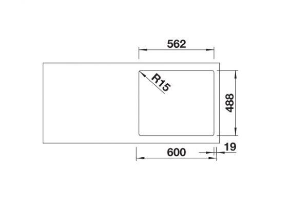 Blanco Etagon 6 525156 Spoelbak Keramiek Wit Inclusief Draaiknopbediening Inclusief Rails Opbouw