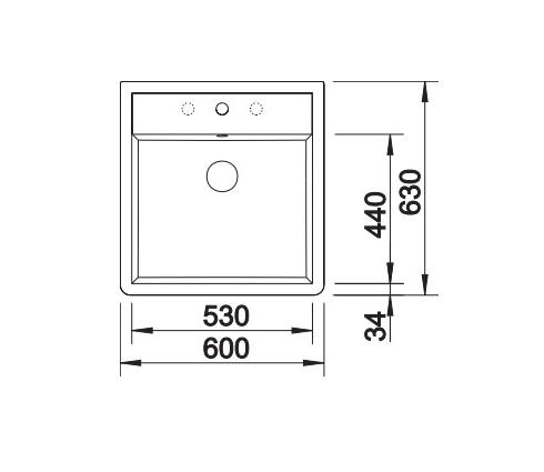 Blanco Panor 60 514486 Keramiek Spoelbak Wit 1 Kraangat Opbouw
