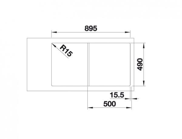 Blanco Axia Iii 5-S 525845 Spoelbak Silgranit Zwart Inclusief Draaiknopbediening Inclusief Houten Snijplank Omkeerbaar Onderbouw Of Opbouw