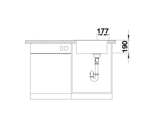 Blanco Artago 6 521756 Spoelbak Silgranit Rotsgrijs Rond Opbouw