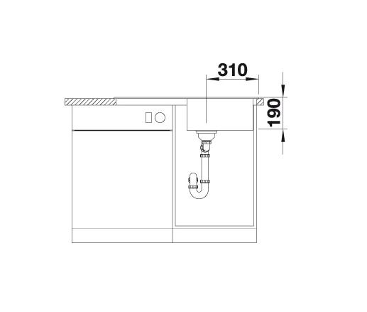 Blanco Sona 5 S 519675 Spoelbak Silgranit Jasmijn Onderbouw Of Opbouw