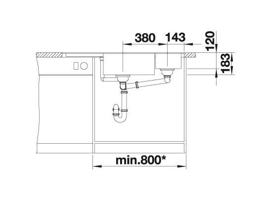 Blanco Blancodelta Ii-F 523674 Spoelbak Silgranit Jasmijn Inclusief Draaiknopbediening Inclusief Accessoires Vlakbouw Of Onderbouw