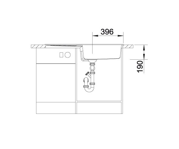 Blanco Metra Xl 6 S 515287 Spoelbak Silgranit Café Inclusief Draaiknopbediening Omkeerbaar Onderbouw Of Opbouw
