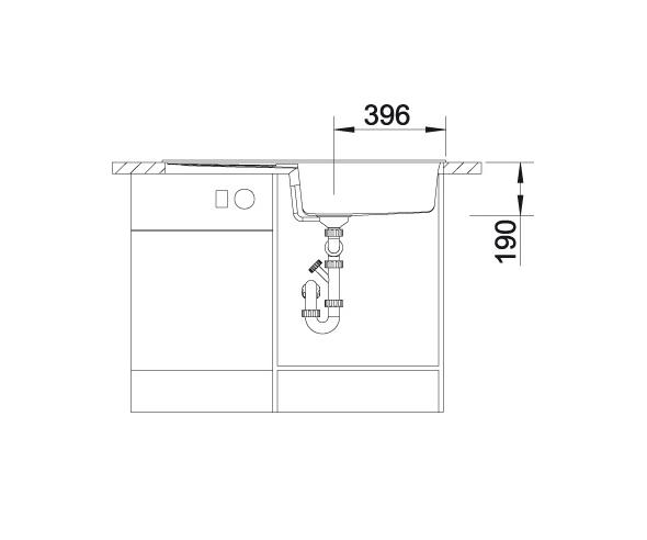 Blanco Metra Xl 6 S 515281 Spoelbak Silgranit Jasmijn Inclusief Draaiknopbediening Omkeerbaar Onderbouw Of Opbouw