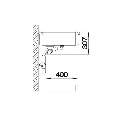 Blanco Axia Iii 6 S-F 523484 Spoelbak Rechts Silgranit Rotsgrijs Inclusief Draaiknopbediening Inclusief Houten Snijplank Vlakbouw Of Onderbouw