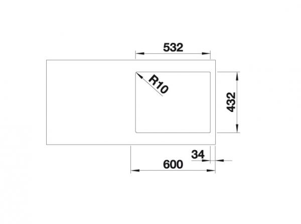 Blanco Subline 500-If Steelframe 524107 Spoelbak Silgranit Antraciet Vlakbouw Of Opbouw