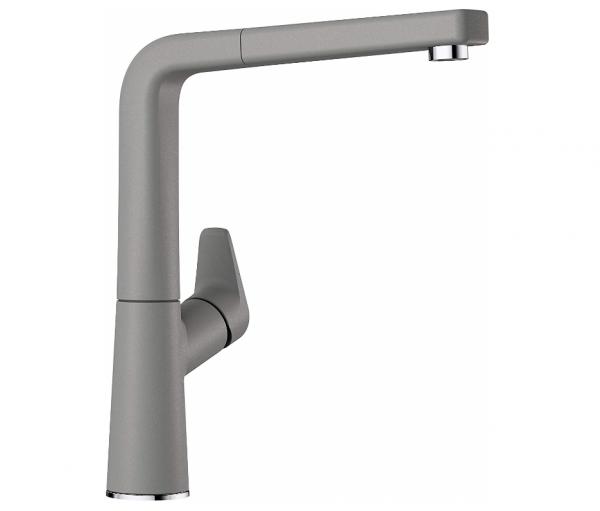 Blanco Avona-S 521279 Eenhendel Keukenkraan Met Uittrekbare Handdouche Silgranit Look Aluminium Metallic