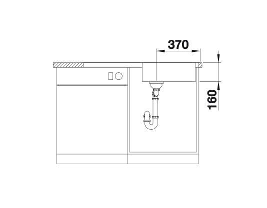 Blanco Lantos Xl 6 S-If 519709 Spoelbak Rvs Inclusief Draaiknopbediening Omkeerbaar Vlakbouw Of Opbouw