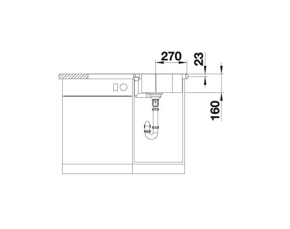 Blanco Lantos 45 S-If 519717 Spoelbak Rvs Inclusief Draaiknopbediening Vlakbouw Of Opbouw