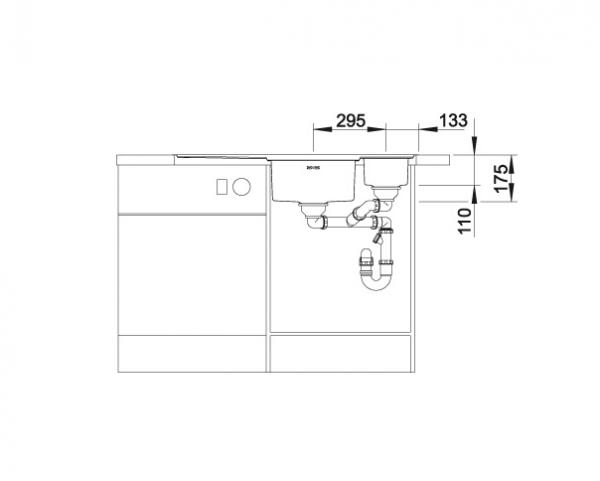 Blanco Axis Iii 6 S-If 522105 Anderhalve Spoelbak Links Rvs Inclusief Draaiknopbediening Inclusief Glazen Snijplank Vlakbouw Of Opbouw
