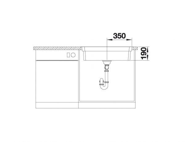 Blanco Etagon 700-If/a 524274 Spoelbak Rvs Inclusief Draaiknopbediening Inclusief Rails Vlakbouw Of Opbouw