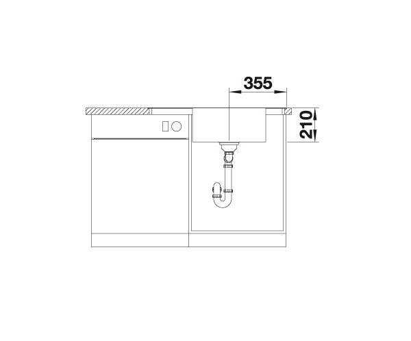 Blanco Andano Xl 6-S-If Compact 523001 Spoelbak Rechts Rvs Inclusief Draaiknopbediening Vlakbouw Of Opbouw