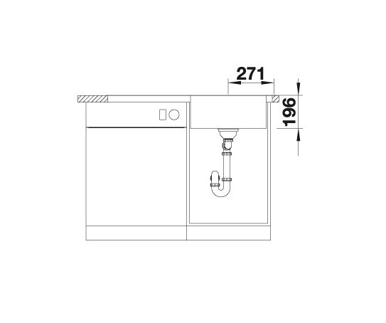 Blanco Divon Ii 5 S-If 521660 Spoelbak Rechts Rvs Inclusief Draaiknopbediening Vlakbouw Of Opbouw