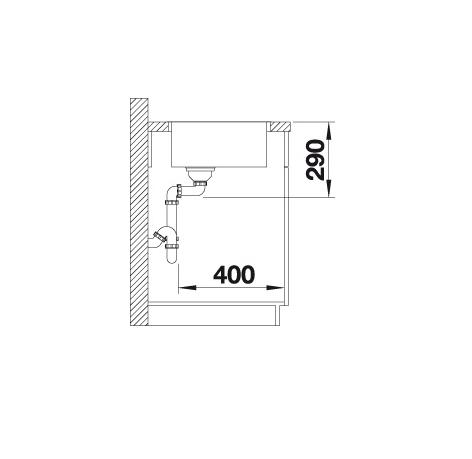 Blanco Andano 340-If 522953 Spoelbak Rvs Vlakbouw Of Opbouw