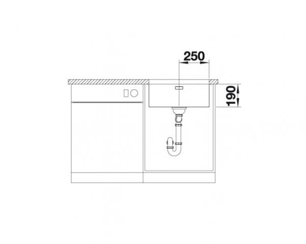 Blanco Andano 500-U 522967 Spoelbak Rvs Onderbouw