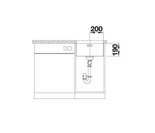 Blanco Andano 400-U 522959 Spoelbak Rvs Onderbouw