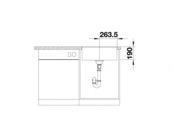 Blanco Subline 500-F 523534 Spoelbak Silgranit Aluminium Metallic Vlakbouw