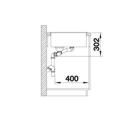 Blanco Axia Iii 6 S 524643 Spoelbak Links Silgranit Antraciet Inclusief Draaiknopbediening Inclusief Houten Snijplank Opbouw Of Onderbouw