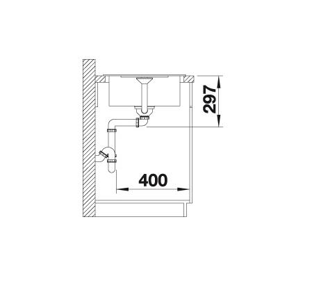 Blanco Metra 45 S Compact 519569 Spoelbak Silgranit Tartufo Omkeerbaar Onderbouw Of Opbouw