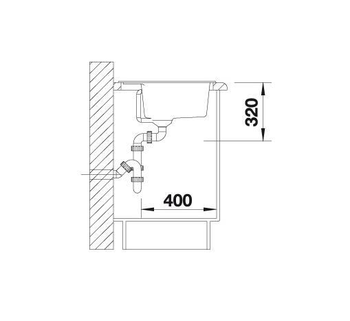 Blanco Dalago 6 514592 Spoelbak Silgranit Jasmijn Inclusief Draaiknopbediening Onderbouw Of Opbouw