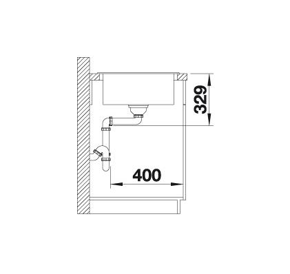 Blanco Sona 45 S 519670 Spoelbak Silgranit Café Omkeerbaar Onderbouw Of Opbouw