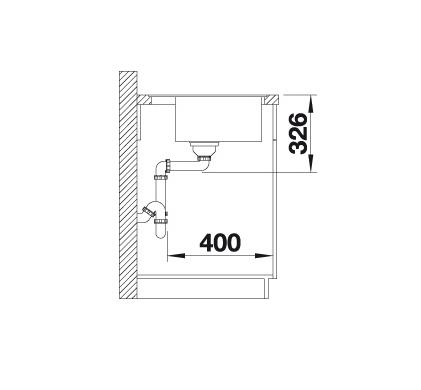 Blanco Dalago 5-F 518532 Spoelbak Silgranit Wit Inclusief Draaiknopbediening Vlakbouw Of Onderbouw