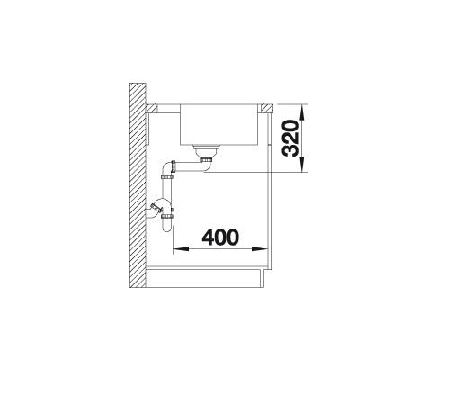 Blanco Dalago 5 518848 Spoelbak Silgranit Rotsgrijs Inclusief Draaiknopbediening Onderbouw Of Opbouw