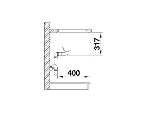 Blanco Etagon 700-U 525169 Spoelbak Silgranit Aluminium Metallic Inclusief Rails Onderbouw