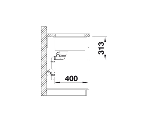 Blanco Subline 340/160-U 523567 Anderhalve Spoelbak Silgranit Café Onderbouw