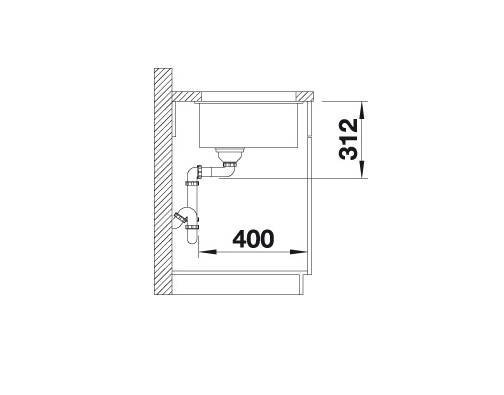 Blanco Subline 700-U 523451 Spoelbak Silgranit Café Onderbouw