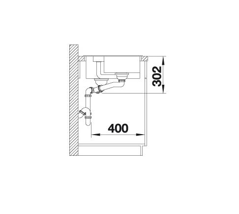 Blanco Collectis 6 S 523346 Spoelbak Rechts Silgranit Aluminium Metallic Inclusief Draaiknopbediening Inclusief Accessoires Opbouw