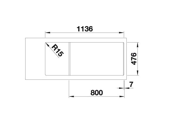 Blanco Lantos 8 S-If 519713 Compact Spoelbak Rvs Inclusief Draaiknopbediening Vlakbouw Of Opbouw