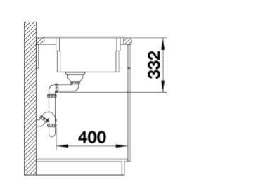 Blanco Etagon 8 525301 Silgranit Betonlook Spoelbak Inclusief Rails Inclusief Draaiknopbediening Opbouw