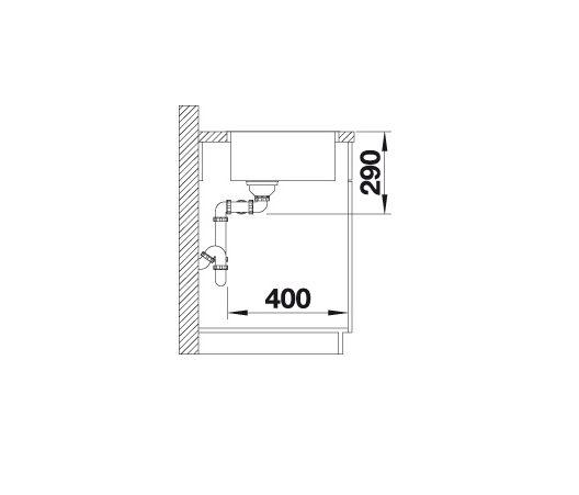 Blanco Andano 340/340-If 522981 Dubbele Spoelbak Rvs Vlakbouw Of Opbouw