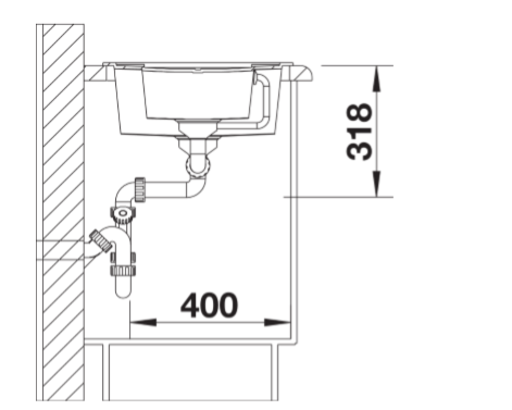 Blanco Metra 6 S 525313 Silgranit Betonlook Spoelbak Inclusief Draaiknopbediening Omkeerbaar Onderbouw Of Opbouw