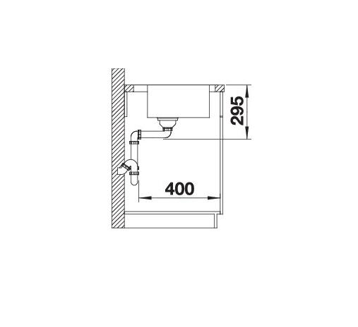 Blanco Divon Ii 5 S-If 521659 Spoelbak Links Rvs Inclusief Draaiknopbediening Vlakbouw Of Opbouw