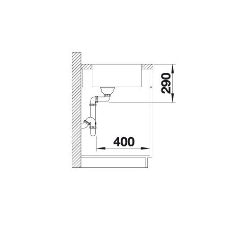 Blanco Andano 700-If 522969 Spoelbak Rvs Vlakbouw Of Opbouw